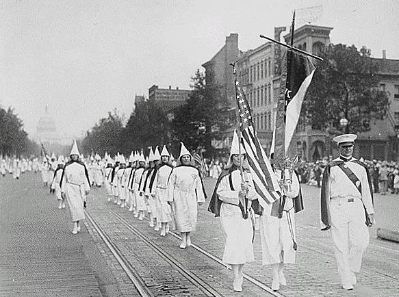 Parade of the Ku Klux Klan in Washington in 1928.