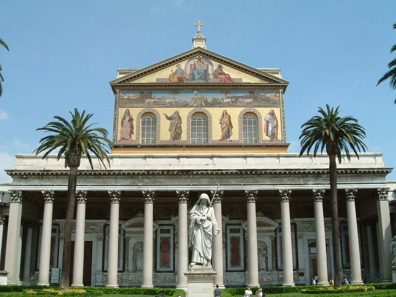 Photo of the Basilica of St. Paul Outside-the-Walls taken from Wikipedia