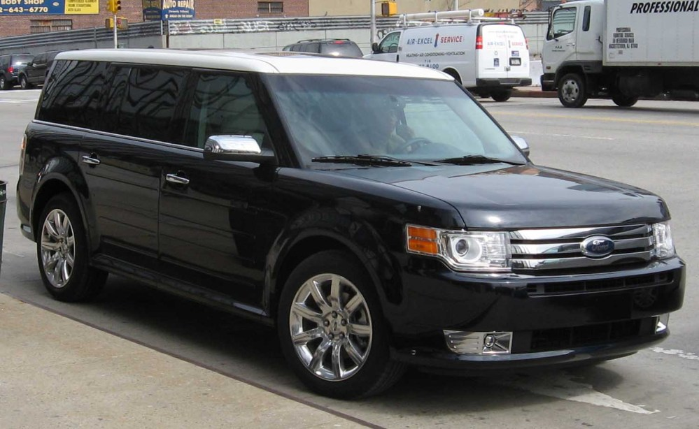 Driving my rental tank..... the Ford Flex