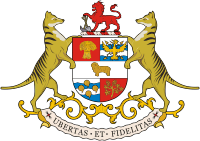 The Tasmanian coat of arms features thylacines...
