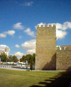 Les murailles d'Évora, vestiges de l'ancien château arabe, actuel Portugal en arabe Yaborah