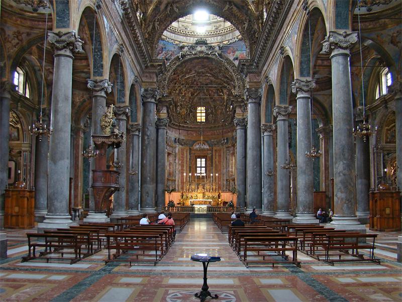 San Giuseppe ai Teatini, the interior (photo Tango7174, CC-A-SA 2.5)