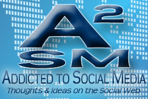 Logo for the Addicted to Social Media Blog
