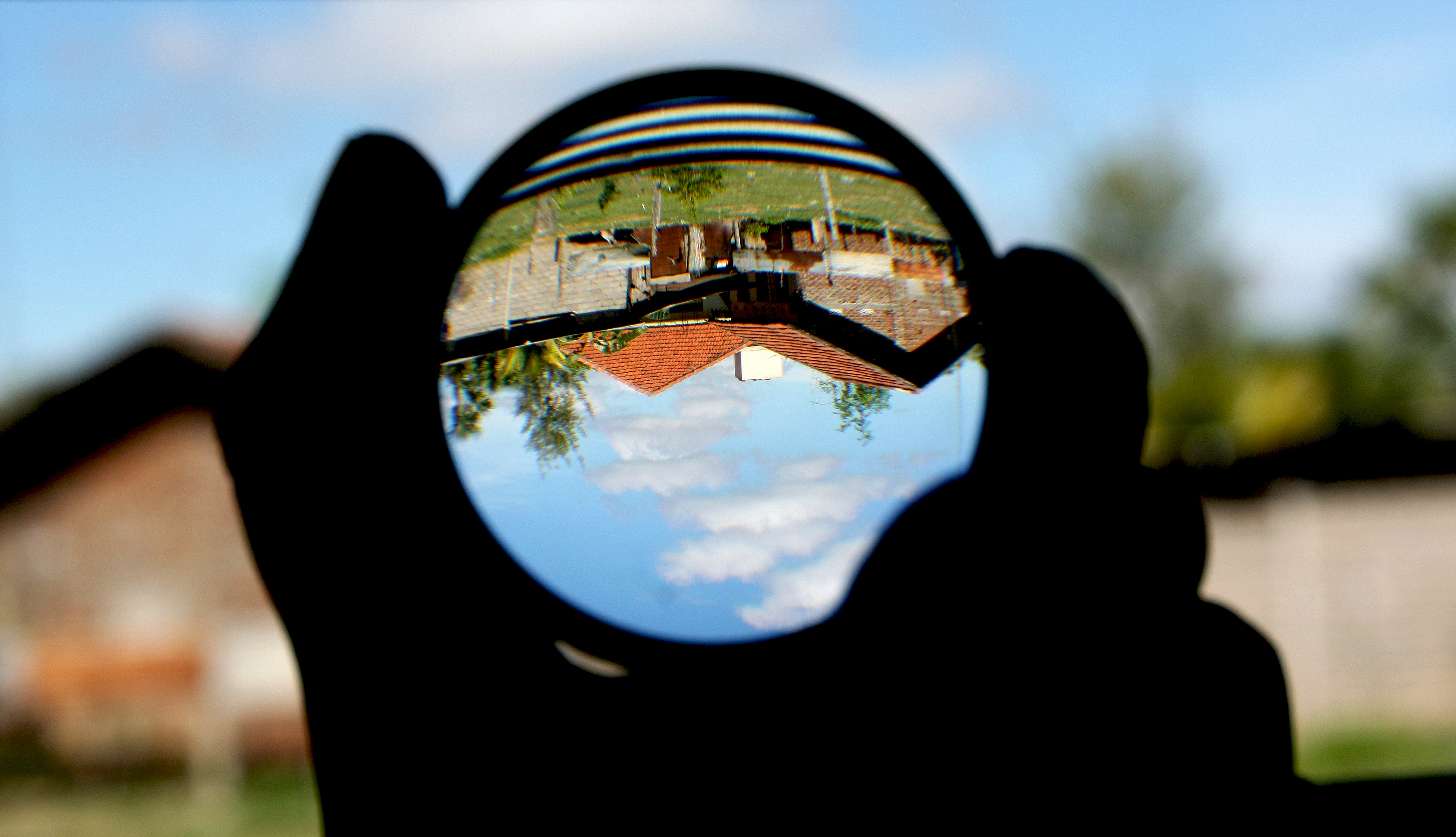 File Convex Lens Magnifying Glass And Upside Down Image