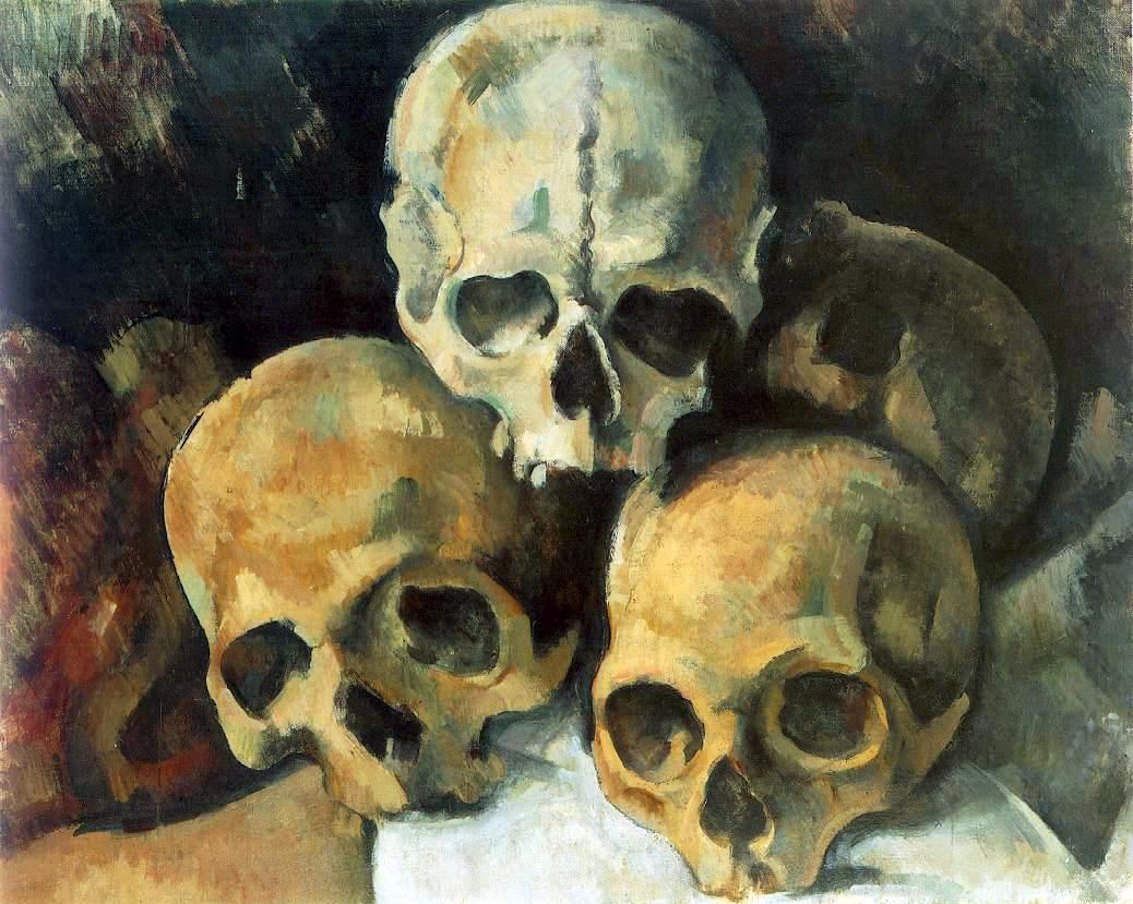 Paul Cezanne - Pyramide de crânes