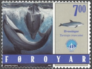 Faroe stamp 328 bottlenose dolphin (Tursiops t...