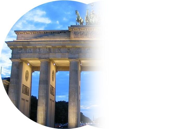 Gesichtsfeldausfall (Brandenburger Tor Blaue Stunde) 1