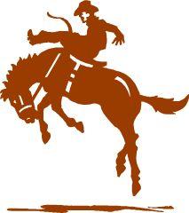 silhouette de cowboy en cheval