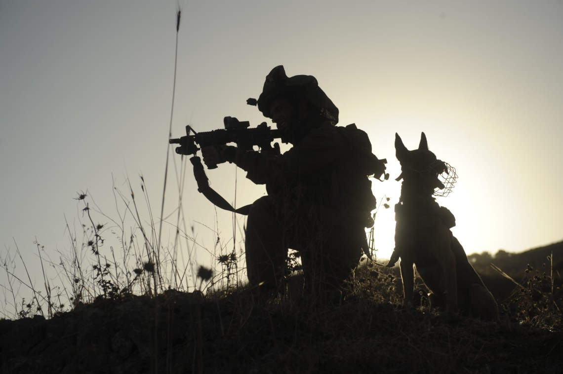 Flickr   Israel Defense Forces   Guarding With Man%27s Best Friend The Best Dog Food For Pitbulls