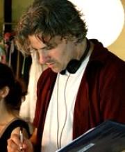 English: Director Darren Press on set of featu...