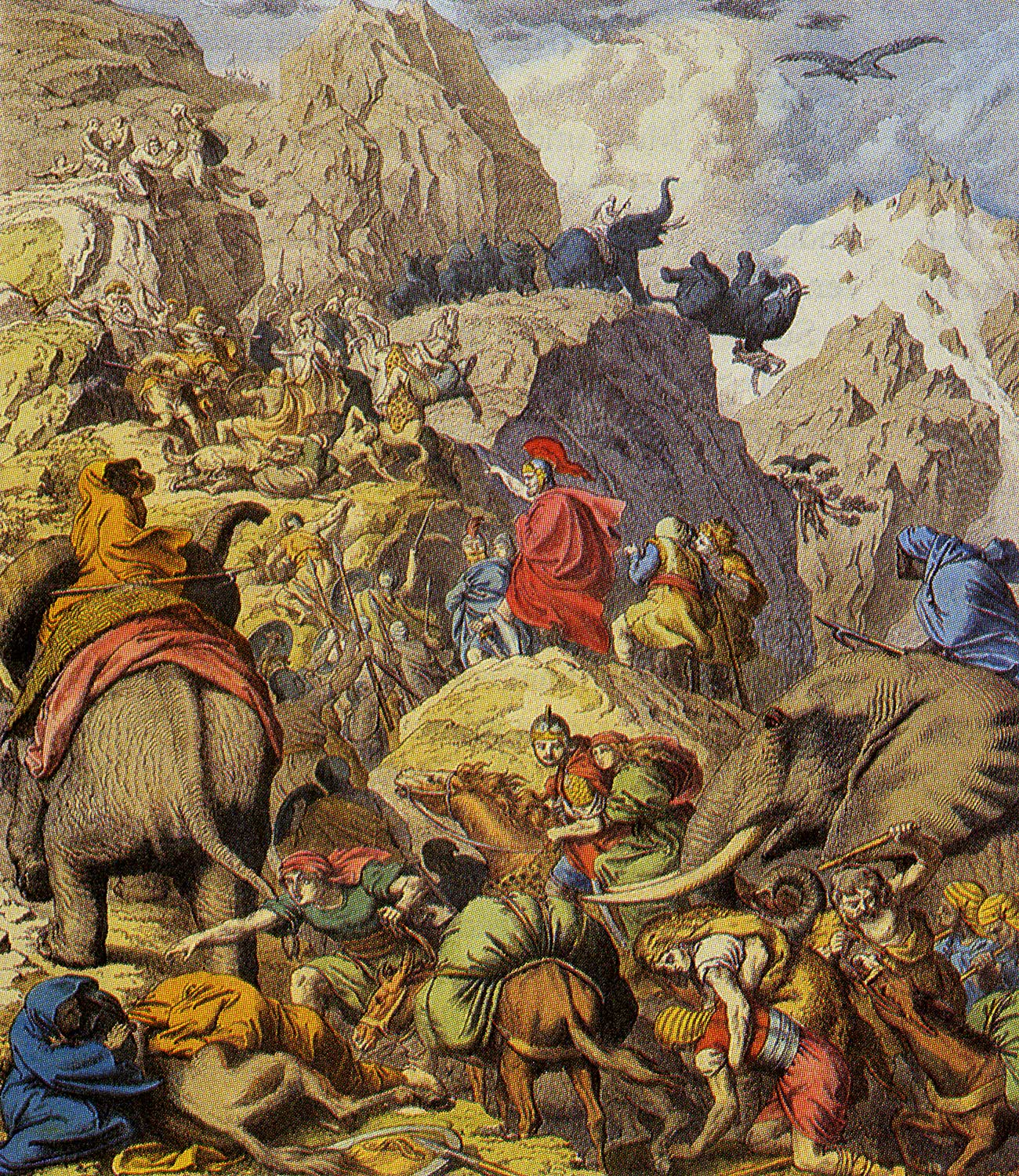 Hannibal's Famous Crossing of the Alps.