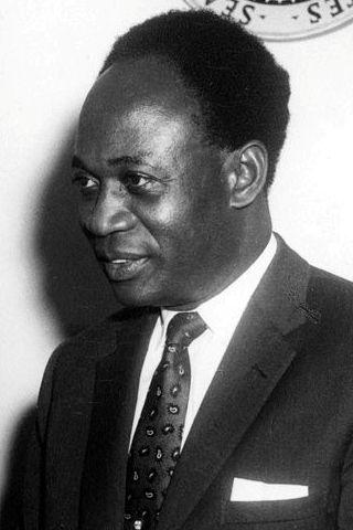 Kwame Nkrumah, first president of Ghana, image from https://en.wikipedia.org