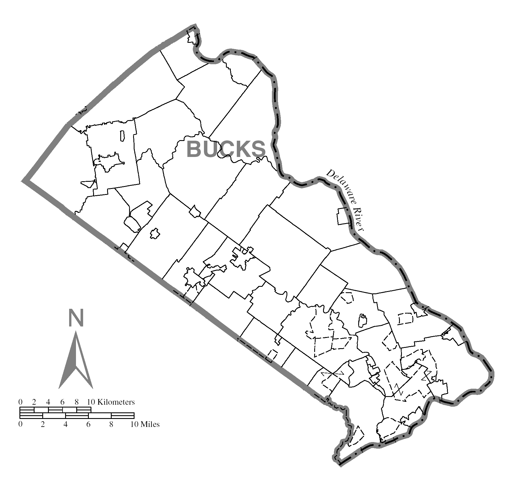 File Map Of Bucks County Pennsylvania No Text