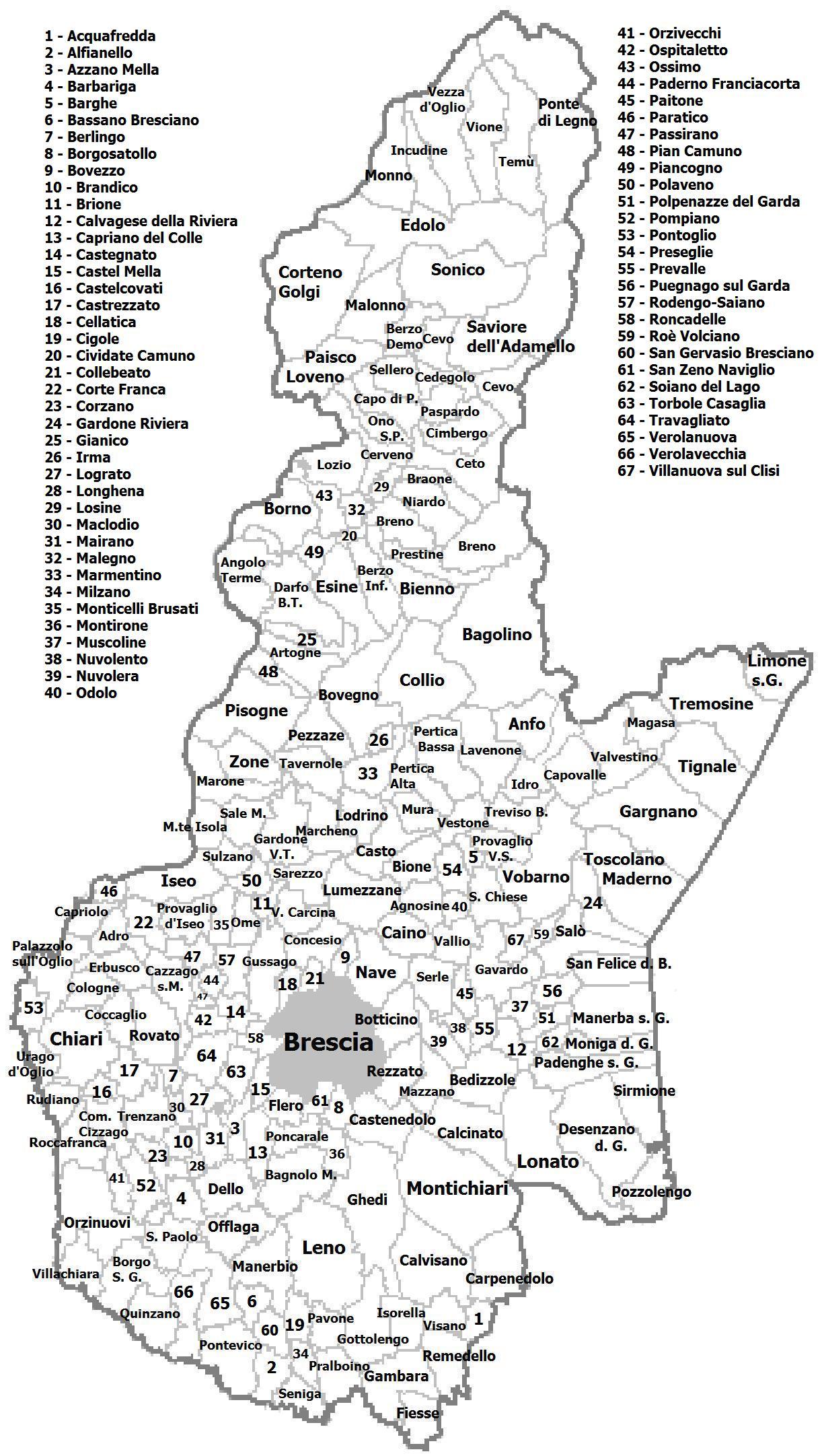Cartina Muta Province Piemonte