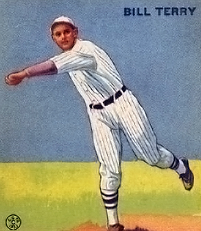 English: 1933 Goudey baseball card of Bill Ter...