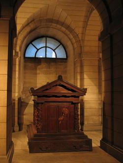 The tomb of Rousseau in the crypt of the Panthéon, Paris