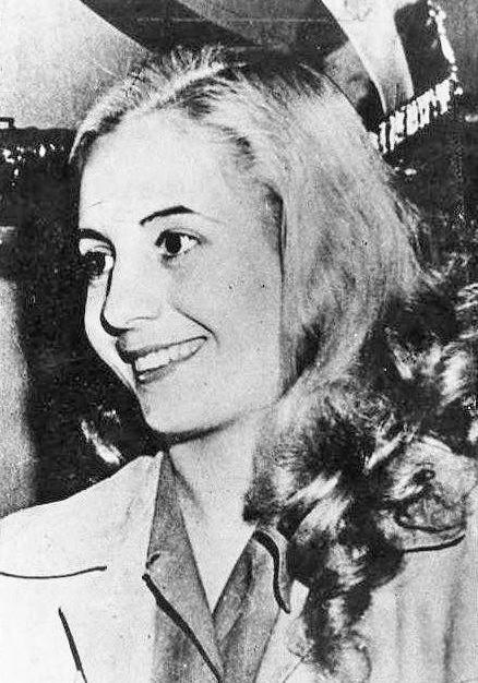 Image of a young Evita Duarte