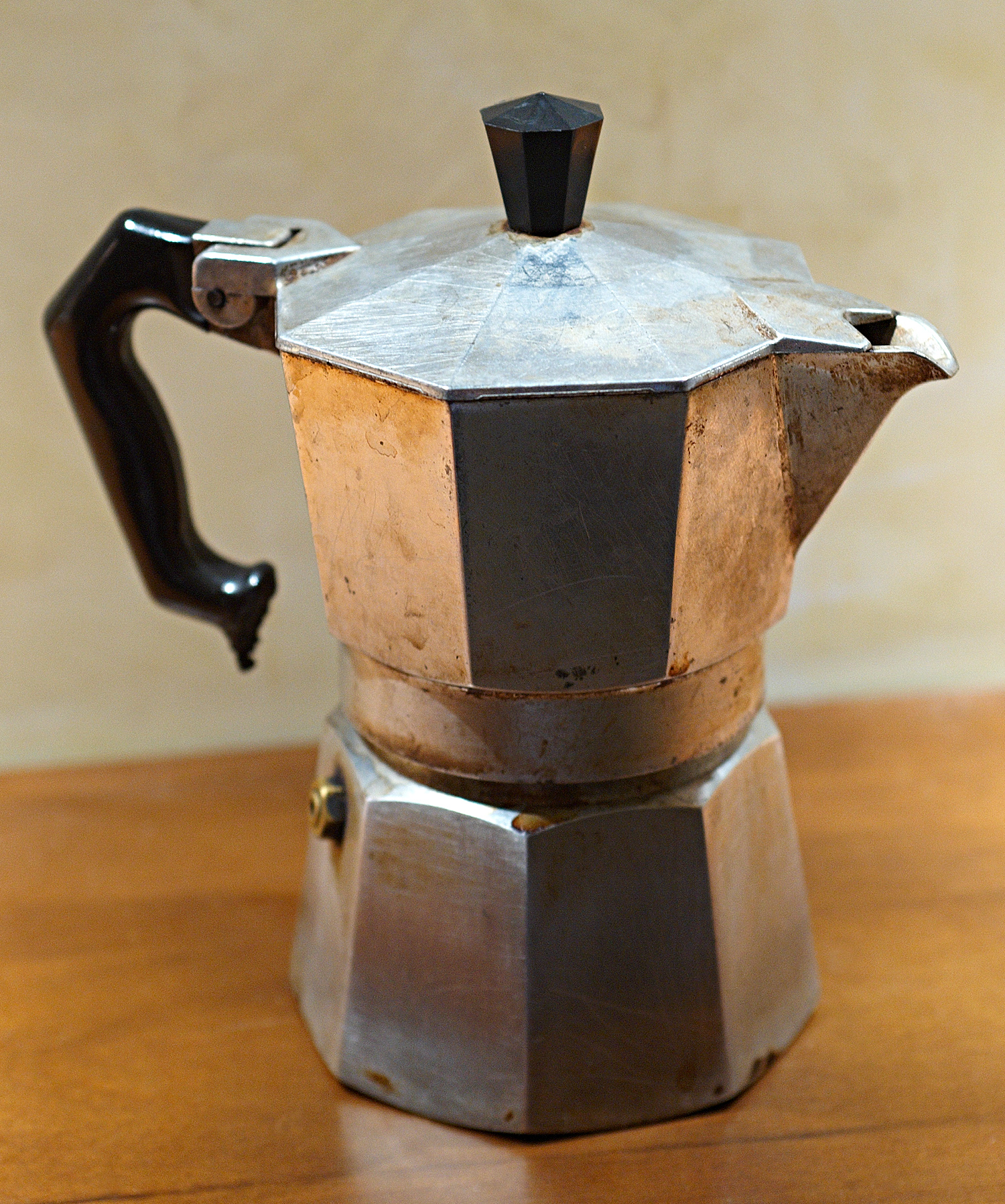 Mokka stovetop espresso old fashioned style