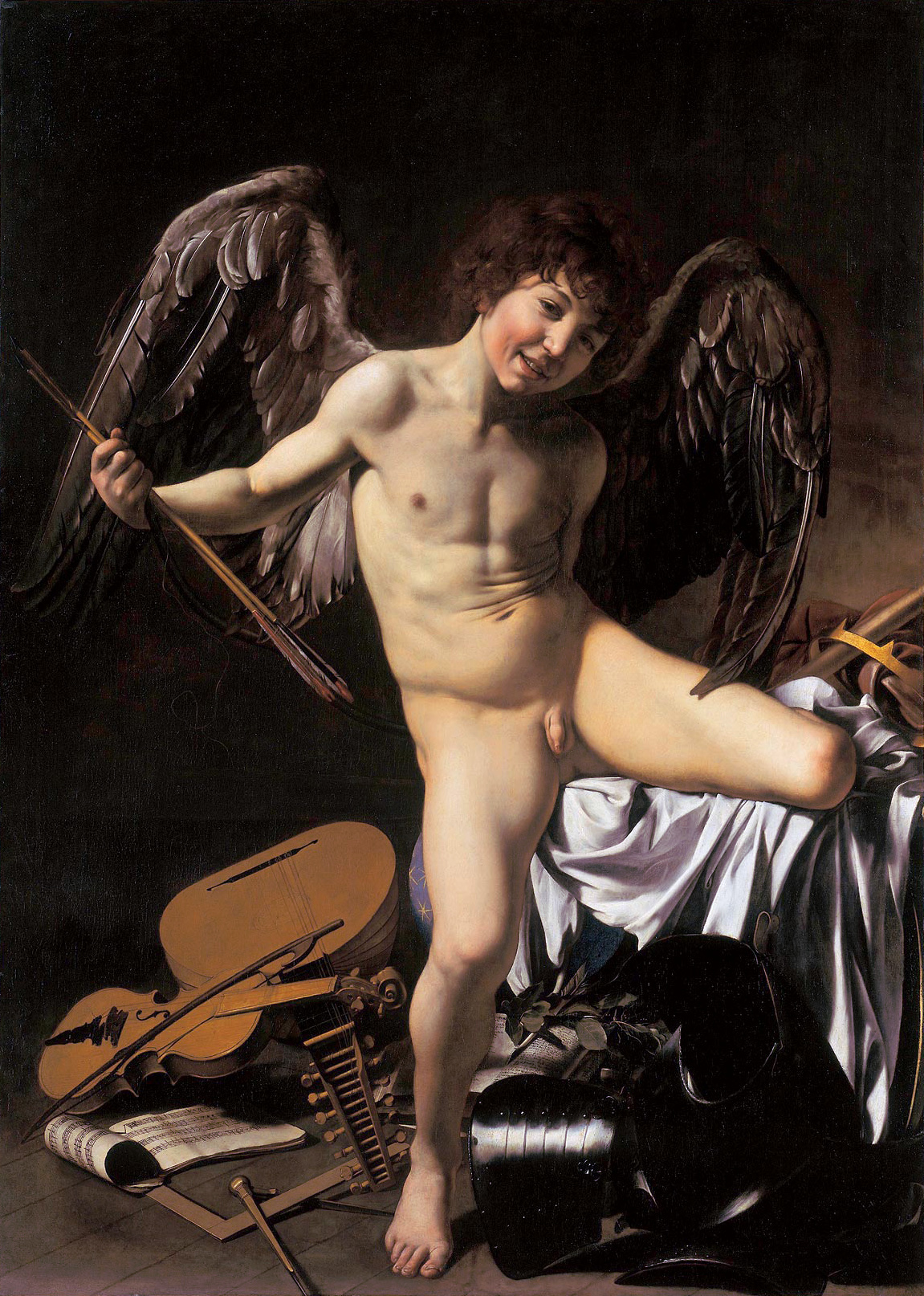 Artist Caravaggio: 1601–1602 (Oil on Canvas) |Amor Vincit Omnia|