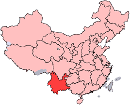 Location of Yunnan Province in the People's Re...