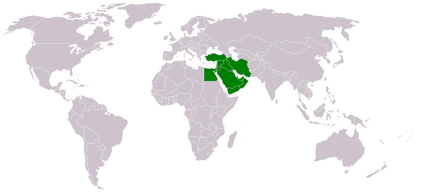 Naher Osten Karte