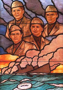 Stained glass window, U. S. Pentagon, honoring...