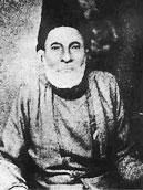 A photograph of Mirza Ghalib