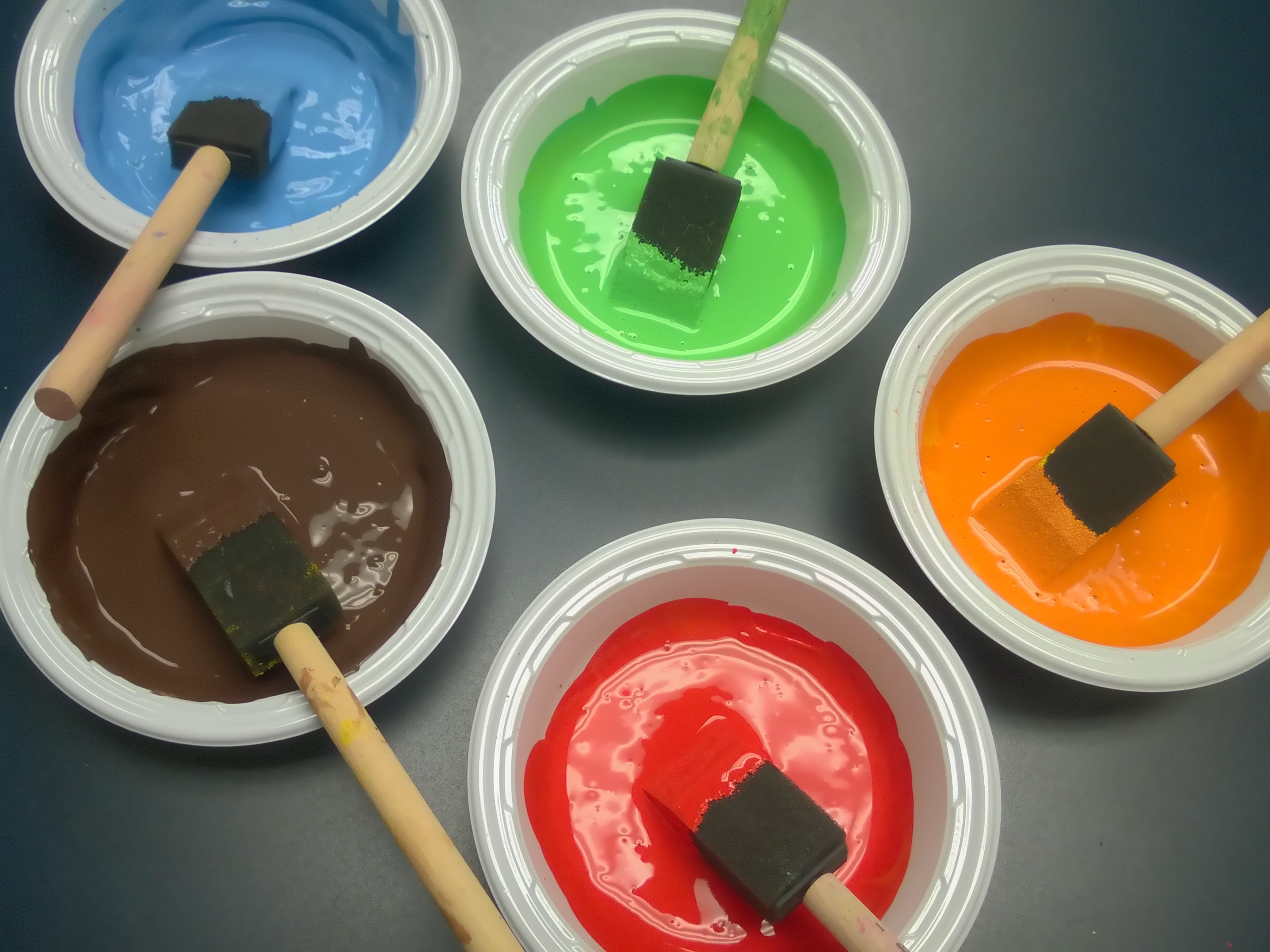 Multicolored Tempera Paints