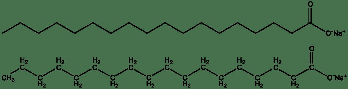 Chemická štruktúra mydla