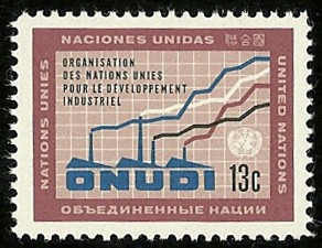 English: United Nations postage stamp: ONUDI (...