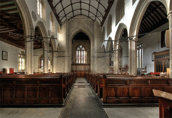 Interior of St Michael's Church - Mere
