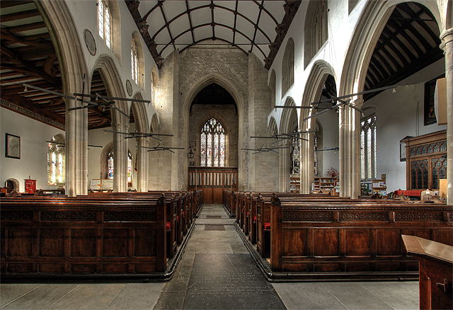 Interior of St Michael's Church - Mere