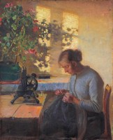 Sewing fisherman´s wife
