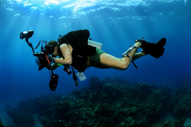 Make money with a video camera as a specialty underwater videographer