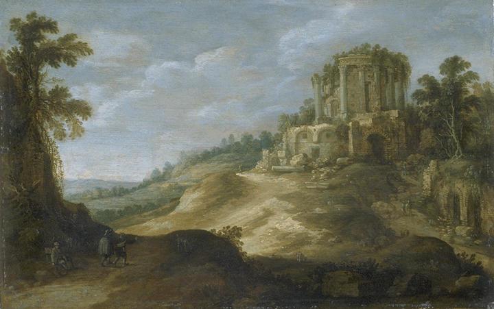 File:Vue du temple de la Sybille à Tivoli par Paul Bril.jpg