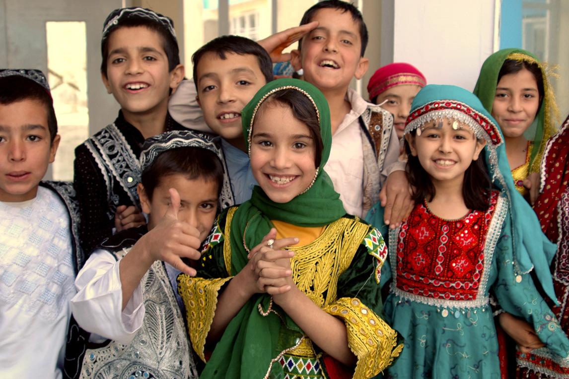 Afghan Schoolchildren in Kabul