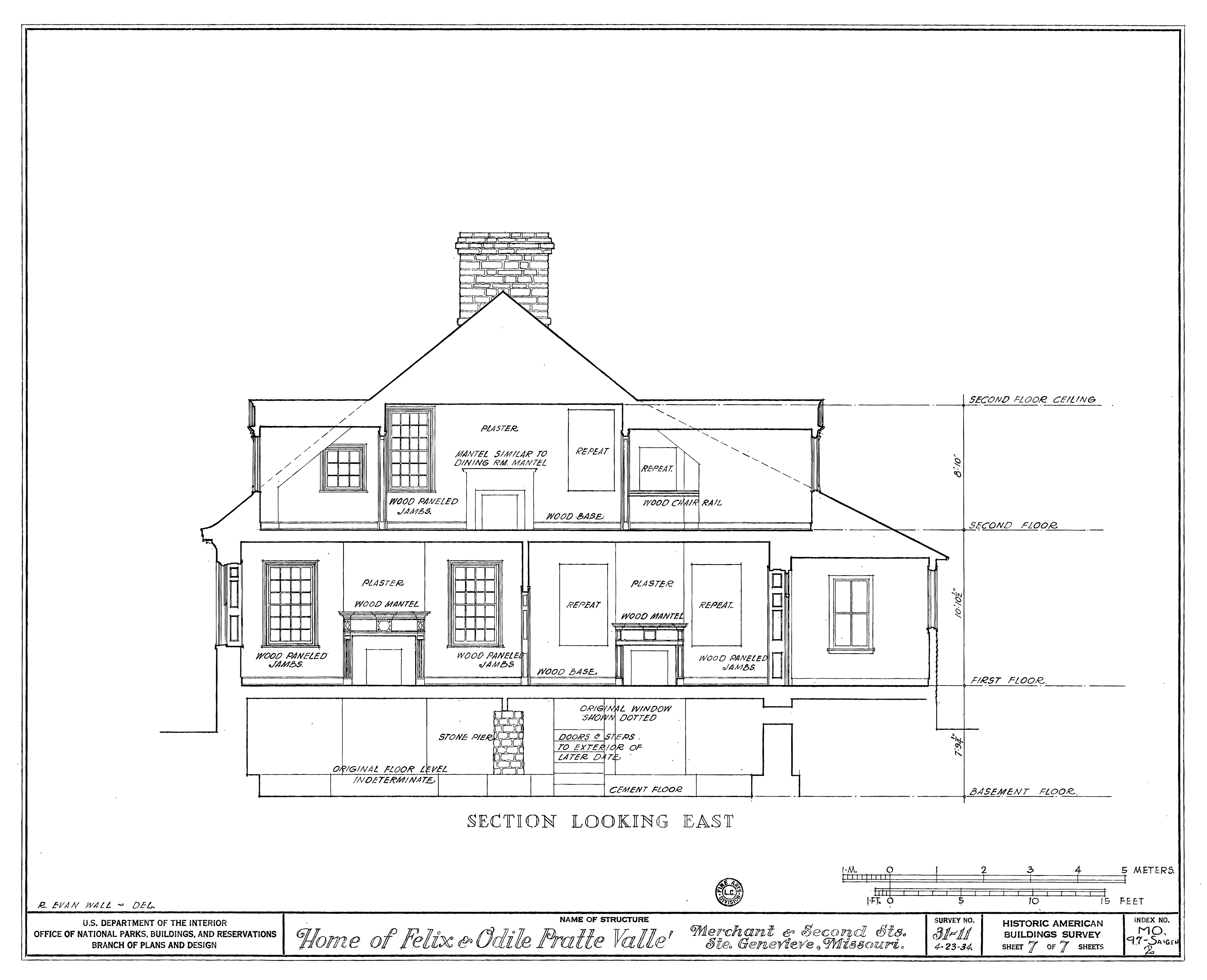 File Drawing Of A Section Looking East Of The Felix Vallee