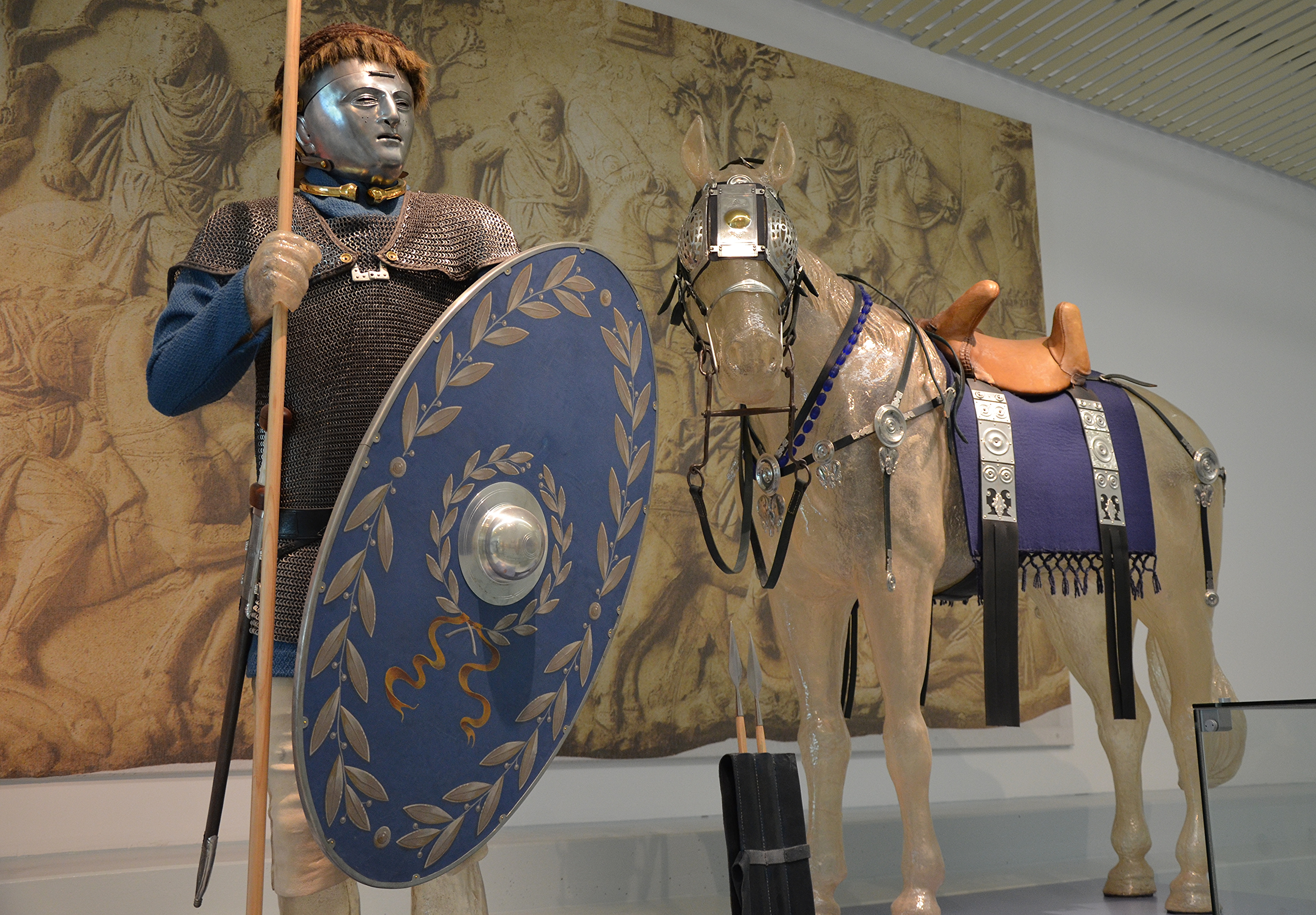 FileA Reconstruction Of A Cavalryman And Horse Wearing