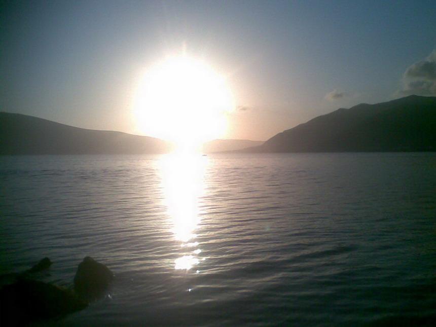 Sunset in Tivat, Montenegro