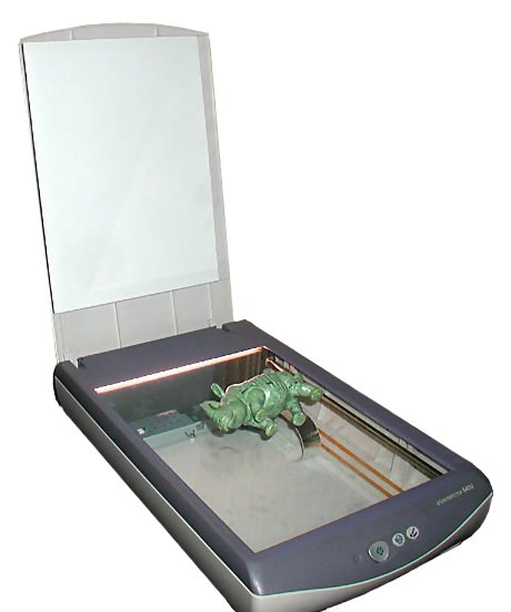 flatbed scanner with dinosaur on it