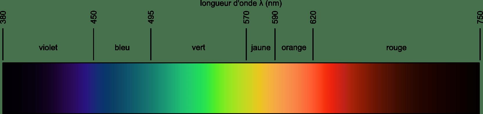FileSpectre Visible Lineaire En Longueur D Ondepng