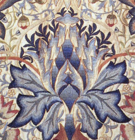"Detalj frå ""Artichoke"", William Morris 1877. Via Wikimedia Commons."