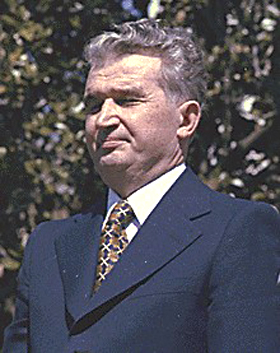 Nicolae Ceauşescu, crop from the Carter pic