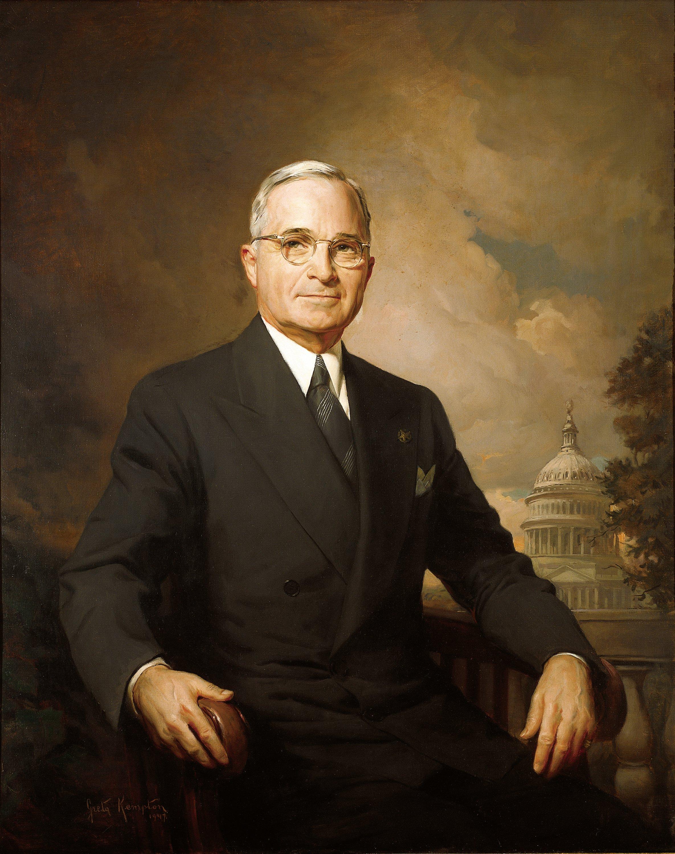 Presidential portrait of Harry Truman. Officia...