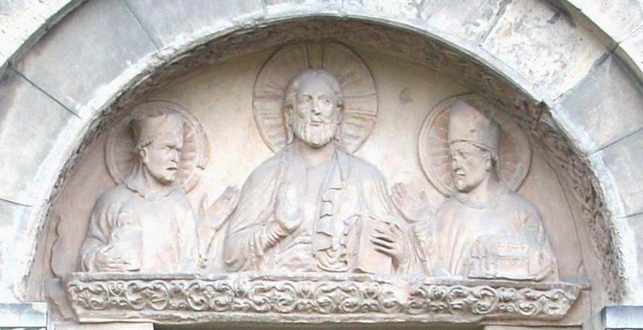 S. Epifanio vicino a Cristo e a S. Godardo
