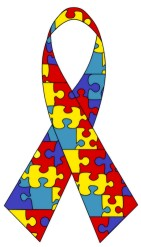The puzzle piece ribbon is used by some autism...