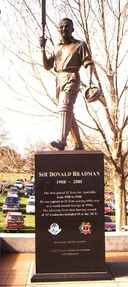 Photo of Don Bradman taken the MCG, Melbourne ...