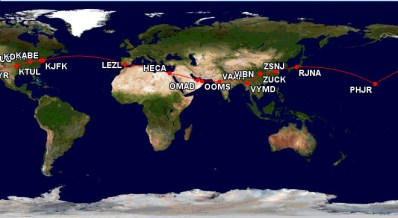 SolarImpulse2Route | By Cuhlik via Wikimedia Commons