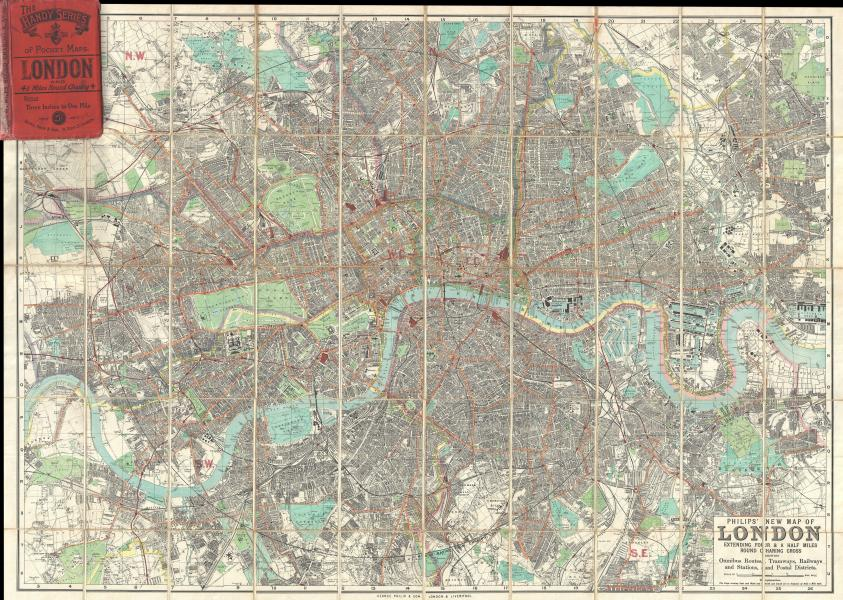File 1895 Philip Pocket Map or Plan of London  England     File 1895 Philip Pocket Map or Plan of London  England   Geographicus    London