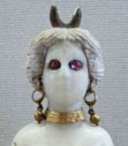 English: Astarte with horned (moon crescent) crown